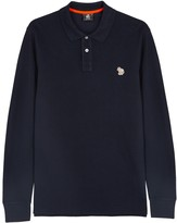 Ps By Paul Smith Navy Piqué Cotton Polo Shirt