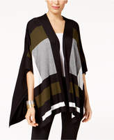 Alfani Colorblocked Cape Cardigan, Created for Macy's