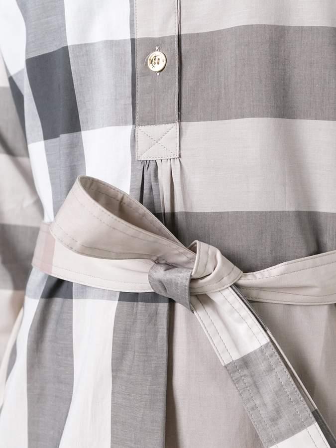 Burberry checked shirt dress