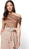 New York & Co. Asymmetrical Draped Blouse