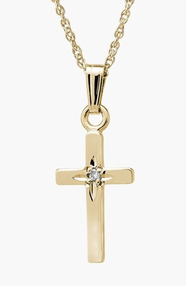Mignonette 14k Gold & Diamond Cross Necklace