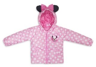 Minnie Mouse Toddler Girl Polka Dot Winter Jacket Coat