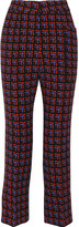 Marni Cropped checked wool flared pants