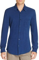 BOSS Reid Indigo Piqué Slim Fit Button-Down Shirt