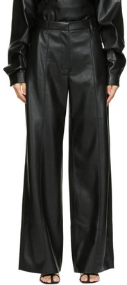Nanushka Black Vegan Leather Cleo Trousers
