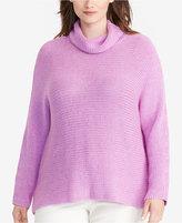Lauren Ralph Lauren Plus Size Dolman Funnel-Neck Sweater