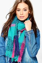 Boohoo Summer Oversize Tartan Supersoft Scarf