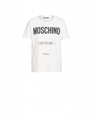 Moschino T-shirt In Cotton With Couture Logo Woman White Size 36 It - (2 Us)