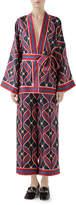 Gucci Interlocking G Ribbon-Print Kimono Top