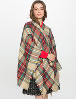 ELOQUII Plus Size Plaid Ruana Wrap