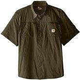 Carhartt Men's Big & Tall Force Mandan Solid Short Sleeve Shirt