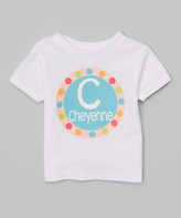 Swag White Circle Personalized Tee - Infant Toddler & Girls