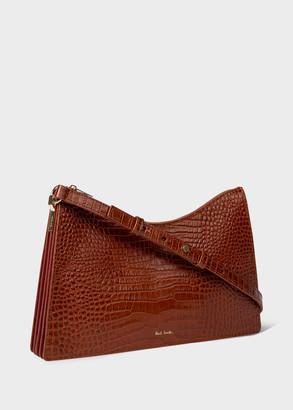 Paul Smith Women's Tan Mock Croc Leather Medium Trapeze Bag