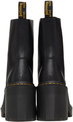 Dr. Martens Black Chesney Flared Heel Lace-Up Boots