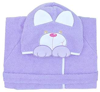Andy & Helen 932M Dressing Gown Sleeves Embroidered Purple