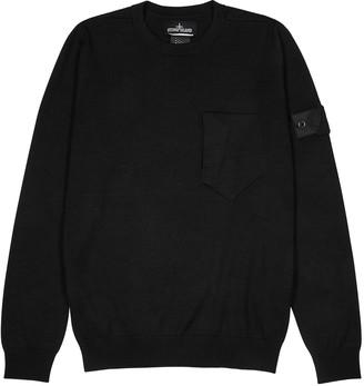 Stone Island Shadow Project Black wool and silk-blend jumper