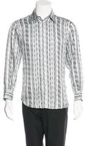 Just Cavalli Wavy Print Silk Shirt