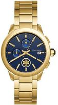 Tory Burch Collins Chronograph Bracelet Watch, Golden/Navy