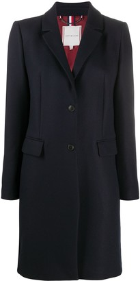Tommy Hilfiger Single-Breasted Wool Overcoat