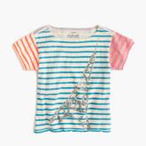 J.Crew Girls' multistripe sparkle Eiffel Tower T-shirt