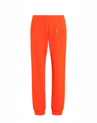 Moschino Double Question Mark Fleece Jogging Man Orange Size 44 It - (29 Us)