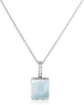 Tagliamonte Mia & Beverly Chalcedony and Diamond 18K Gold Charm Necklace