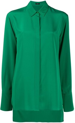 Joseph Silk Long-Sleeve Blouse