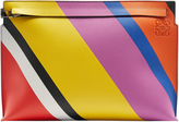 Loewe Striped leather pouch