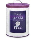 Slumberdown Sleepwell Luxury Stripe 10.5 Tog Duvet, White, King Size