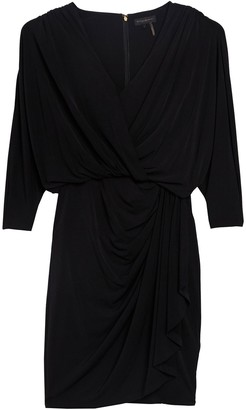 DKNY 3/4 Dolman Sleeve Ruched Dress