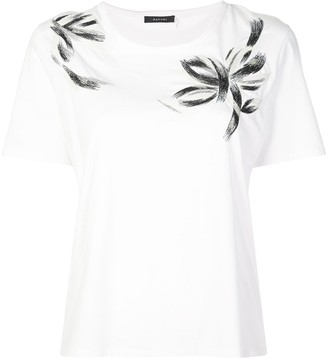 Natori embroidered T-shirt