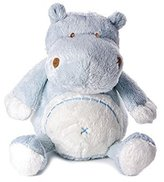 Very Soft Blue Little Hippo Soft Toy for Baby Boy by Mousehouse Gifts