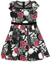 Miss Blumarine Roses Printed Brocade Party Dress