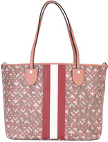 Bally stripe detail tote bag - women - Canvas - One Size
