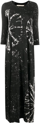 Raquel Allegra Abstract Print Maxi Dress