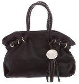 Furla Leather-Trimmed Satin Bag