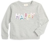 Kate Spade happy graphic sweatshirt (Toddler & Little Girls)