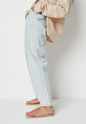 Missguided Nude T Bar Flat Sandals