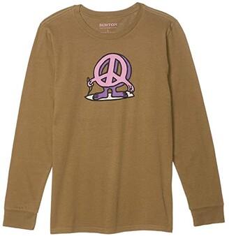 Burton Duncan Long Sleeve T-Shirt (Little Kids/Big Kids) (Martini Olive) Kid's Clothing