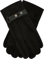Yours Clothing BadRhino Black Genuine Sheepskin Gloves