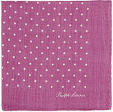 Ralph Lauren Purple Label Men's Polka Dot Wool-Blend Pocket Square