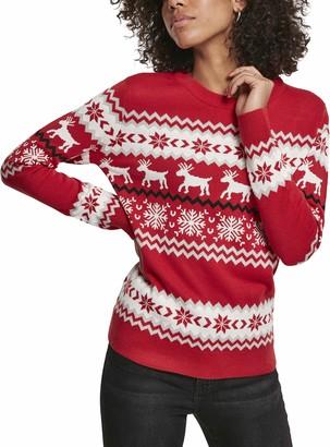 Urban Classics Women's Pullover Ladies Norwegian Christmas Ugly Sweater Sweatshirt