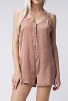 Honey Punch Mocha Romper
