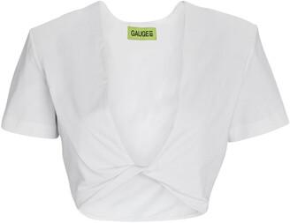 GAUGE81 Keila Cropped Twist Front T-Shirt