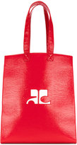 Courreges logo tote bag