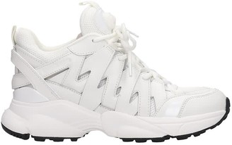 Michael Kors Hero Trainer Sneakers In White Leather