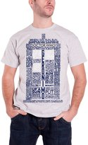 Doctor Who T Shirt Dr Who mens Tardis Quotes new Official Grey