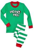 Sara's Prints Unisex Ho Ho Ho Shirt & Pants Pajama Set - Little Kid