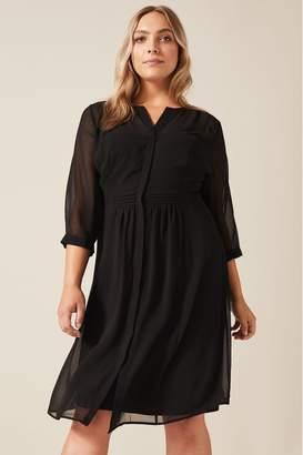 Studio 8 Womens Black Juliet Pin Tuck Dress - Black