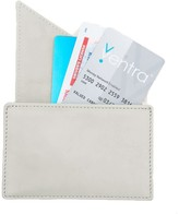 Holly & Tanager Insider Leather Card Holder Wallet In Cream
